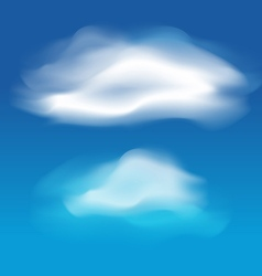 Different white clouds set vector