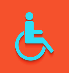 Disabled sign whitish icon vector