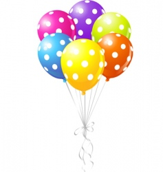 Dotted balloons vector