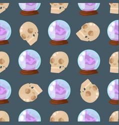 empty globe magic ball sphere glass light seamless vector image