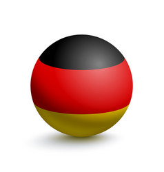 Flag of germany in the form of a ball vector