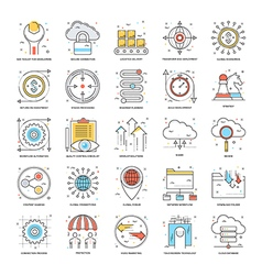 Flat Color Line Icons 17 vector