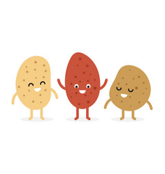 funny cartoon cute potato vector image