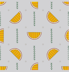 hand drawn abstract oranges seamless pattern vector image
