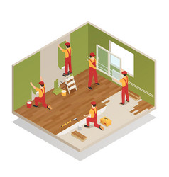 Home renovation isometric composition vector