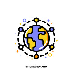 icon of globe for international financial markets vector image
