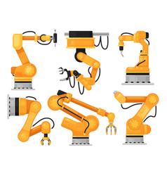 industrial robotic arm factory hydraulic machine vector image