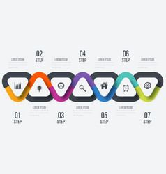 infographics template 7 options vector image
