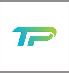 initials tp logo abstract designs vector image