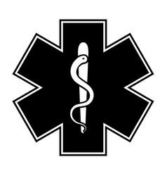 life star medical snake medical symbol vector image