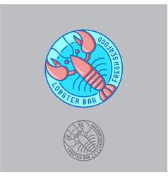 logo lobster seafood restaurant vector image