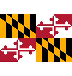 Marylander state flag vector