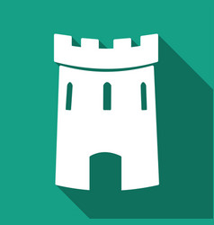 Medieval castle tower icon vector