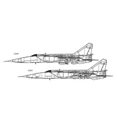 Mikoyan mig-25 foxbat vector