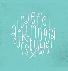 modern alphabet turquoise vector image