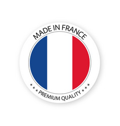Modern made in france label french sticker vector