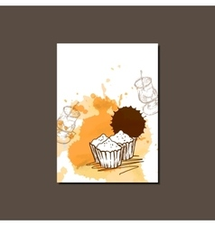 Modern Template for Cupcake Brochure vector