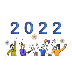 new year 2022 concept vector image