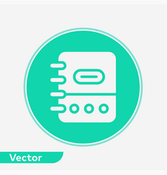 notebook icon sign symbol vector image