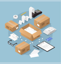Online purchase and delivery vector