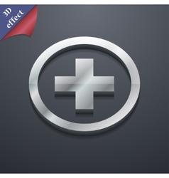 Plus icon symbol 3D style Trendy modern design vector image