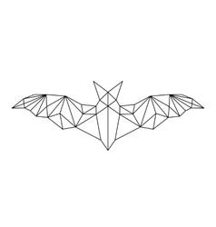 poligonal abstract bat vector image