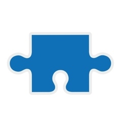 Puzzle piece icon game design graphic vector image