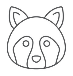 racoon thin line icon animal and zoo coon vector image