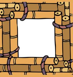 Rectangular frame from sugar canes vector