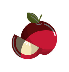 red apple fruit icon stock vector image