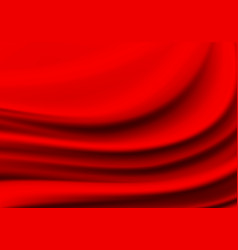 red fabric satin wave background texture vector image