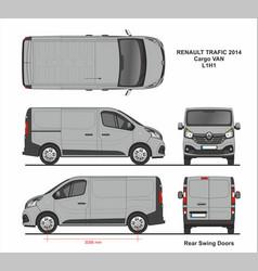 Renault trafic cargo delivery van l1h1 2014 vector