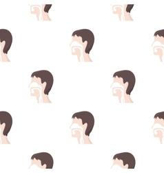 Respiratory system icon cartoon Single medicine vector image