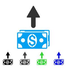 Send banknotes flat icon vector