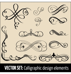 Set calligraphic design elements and pag vector