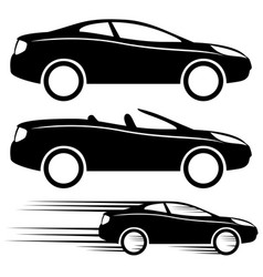set of car signs vector image
