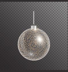 Shining christmas ball vector