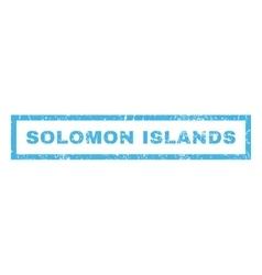 Solomon Islands Rubber Stamp vector