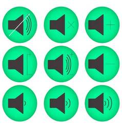 Sound controls button set flat round vector image