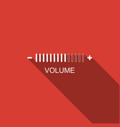 volume adjustment icon isolated with long shadow vector image