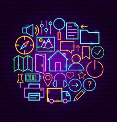 web user interface neon concept vector image