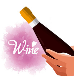 Wine luxury bottle vector