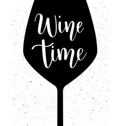 Wine time lettering vector