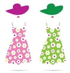 woman dress color vector image