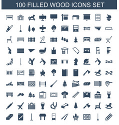 Wood icons vector