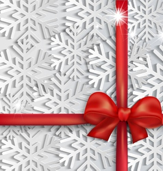background red bow vector image