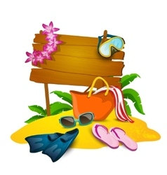 Beach And Summer Background vector image vector image