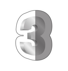 Color number three icon vector