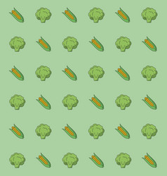 colorful background with pattern of cob corn and vector image vector image
