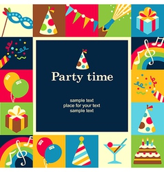 Party time frame vector image vector image